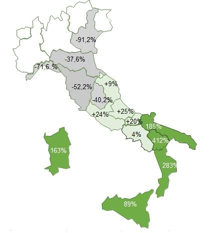 Fonte: Ismea su dati Agea dichiarazioni di produzione dei frantoi; *2019 stima Ismea al 15 marzo 2020